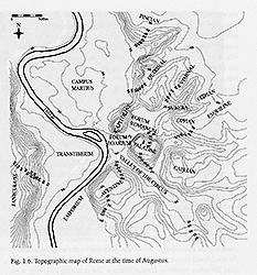 Topographic Map Of Rome.Ara Pacis Augustae