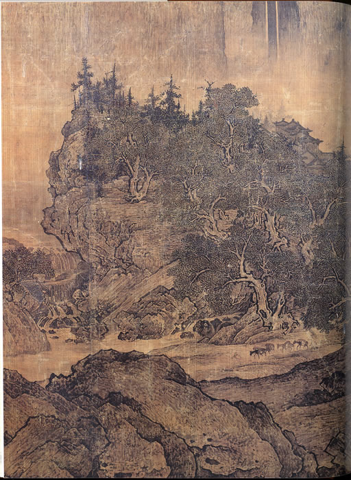 """on fan kuans travelers among mountains and streams essay Xuanhe painting manual, a catalogue of the imperial collection of painting under the song emperor huizong (r 1100-1125), records 58 works by fan kuan but none with the title """"travelers among mountains and streams""""."""