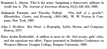 help with bibliography