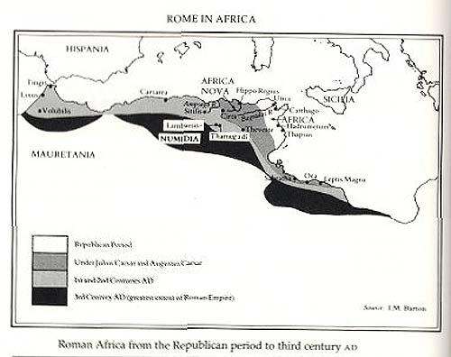 roman north africa map Imaging Roman Africa roman north africa map