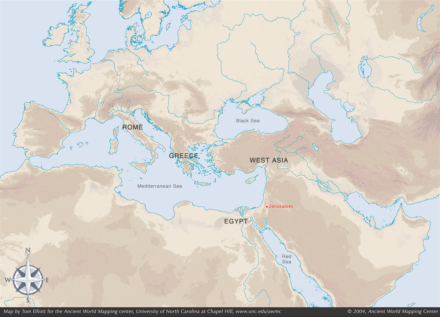 Reed College Humanities Basic Chronology Of The Ancient World - Jerusalem map world