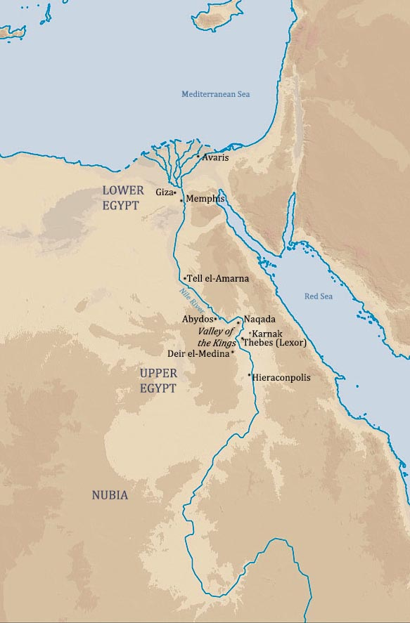 Reed College Humanities Syllabus - Map of egypt thebes