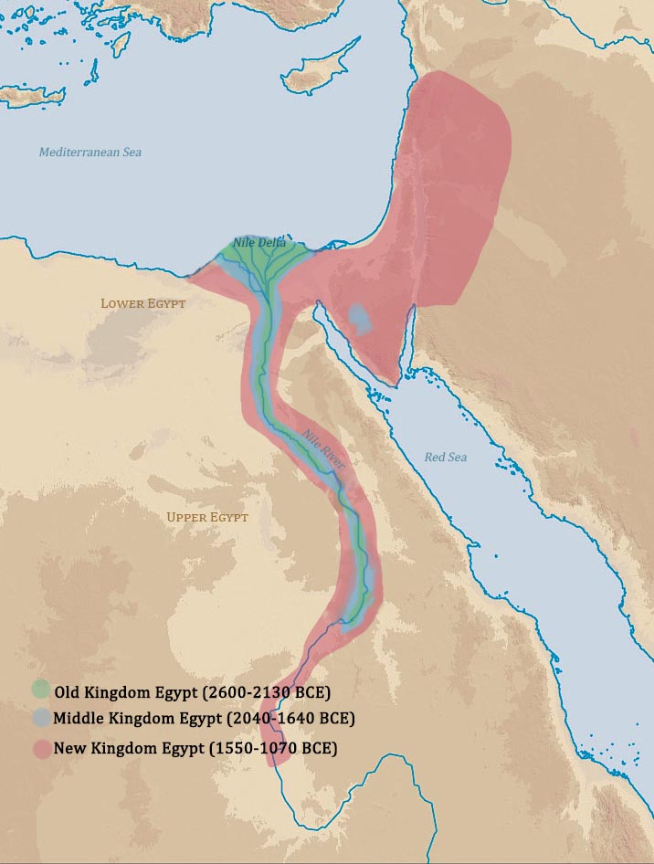Reed College Humanities Basic Chronology Of The Ancient World - Map of egypt old kingdom