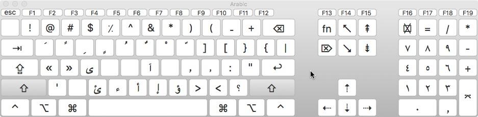 Reed College | Arabic Keyboard Layout