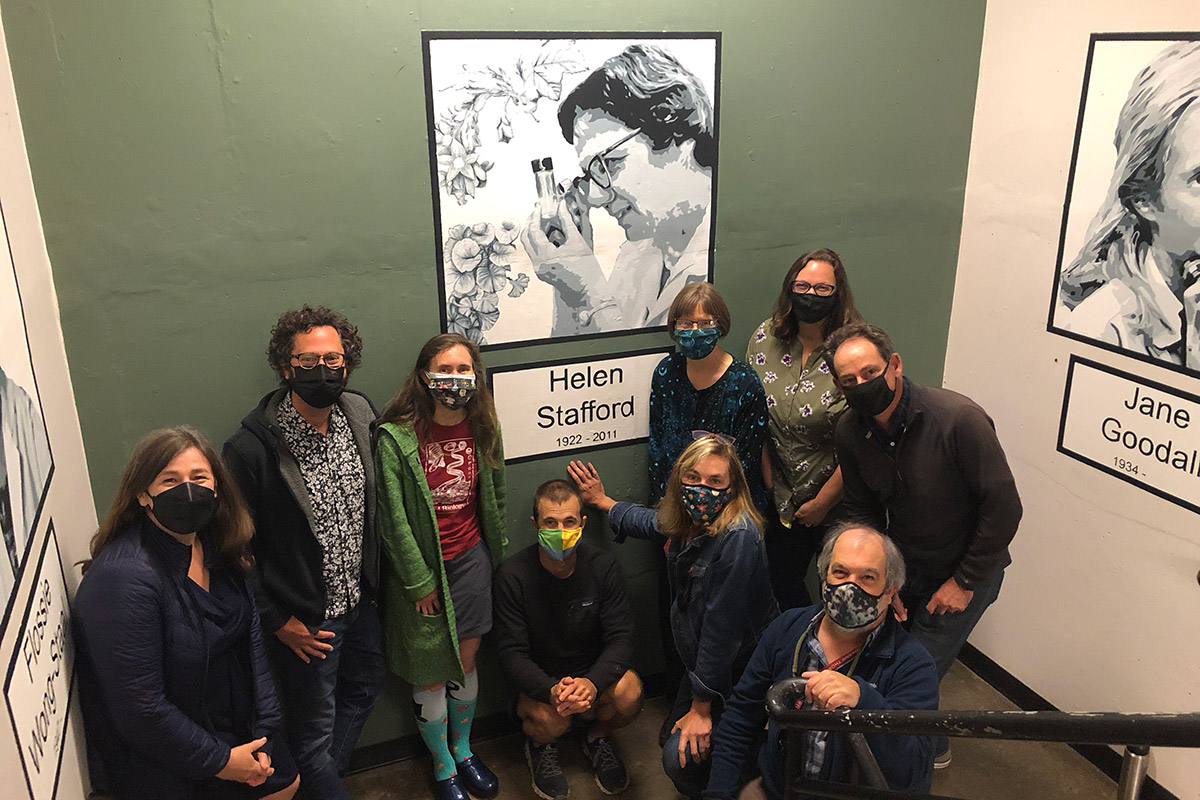 Mural Honors Leading Reed Biologist