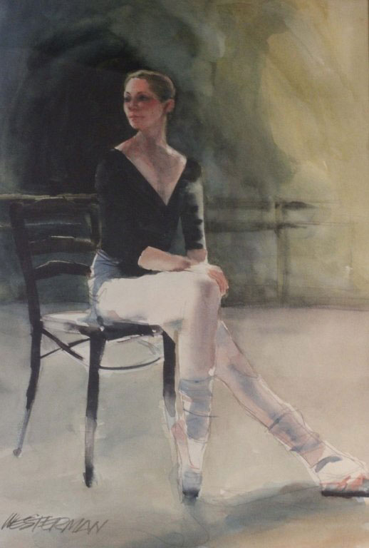 "Painting of ""Waiting"" by Arnold Westerman '48"