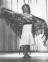 A picture of Elizabeth Zollinger in the role of Bizet's Carmen