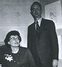 A picture of James Haseltine and Maury Wilson Haseltine