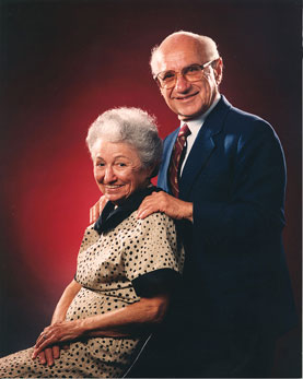 A picture of Rose Director Friedman and Milton Friedman