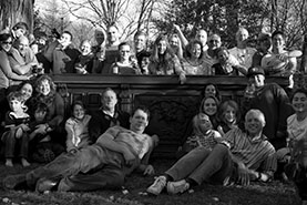 A picture of John Goldsmith and his friends on Thanksgiving Day 2012