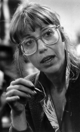 """Katherine Dunn in 1987. """"Write as though nobody has ever written anything before,"""" Prof. Lloyd Reynolds told her."""