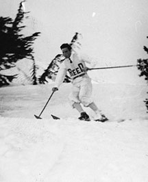 Pucci designed the first uniform for the Reed ski team.