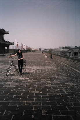 Amy on the Xian city wall.jpg